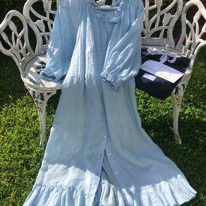 Daily Sleeper Linen Loungewear Dress